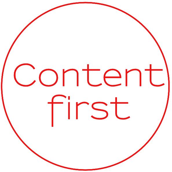 Content-first manifesto
