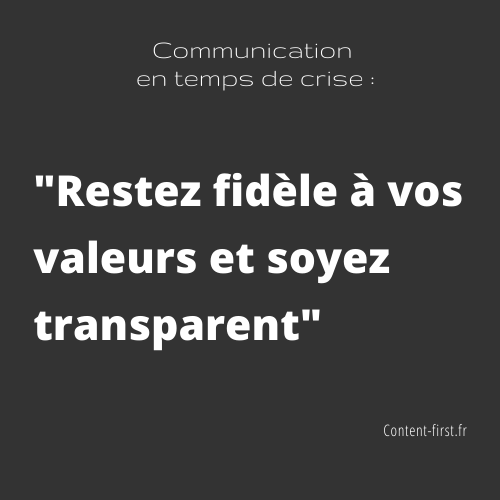Quelle communication éditoriale en période de crise ? Nos do & don't